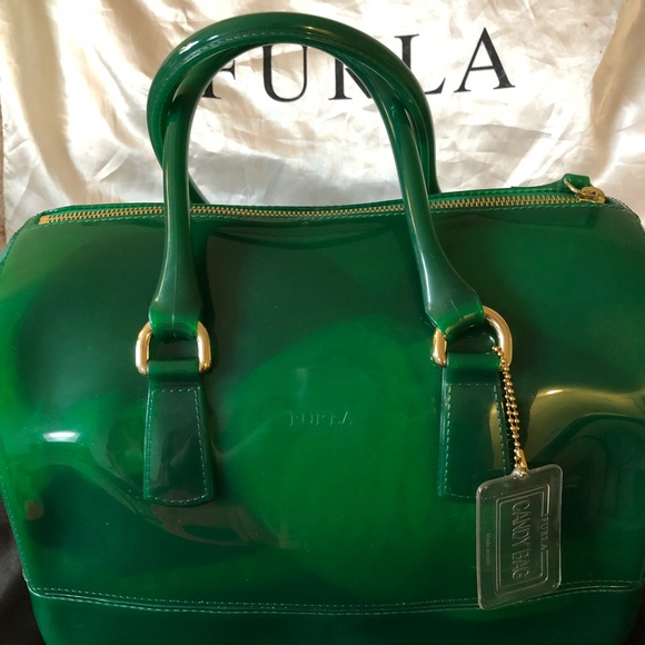 9b9e3693b2d1 Furla Handbags - Authentic Furla hunter green bag.